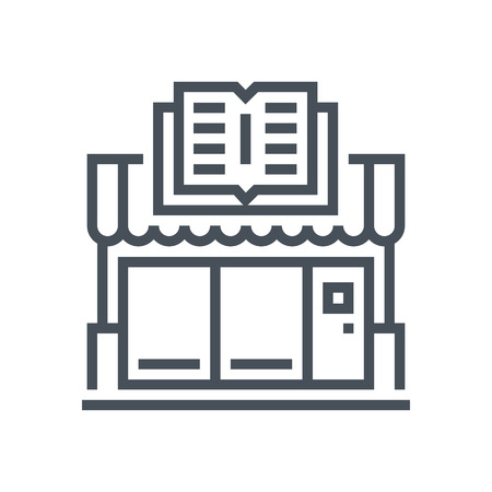 purchase book: Book store icon suitable for info graphics, websites and print media and  interfaces. Line vector icon. Illustration