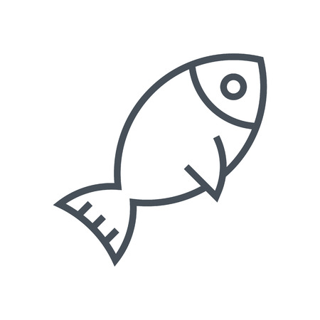 Sea food, fish icon suitable for info graphics, websites and print media. Vector icon.