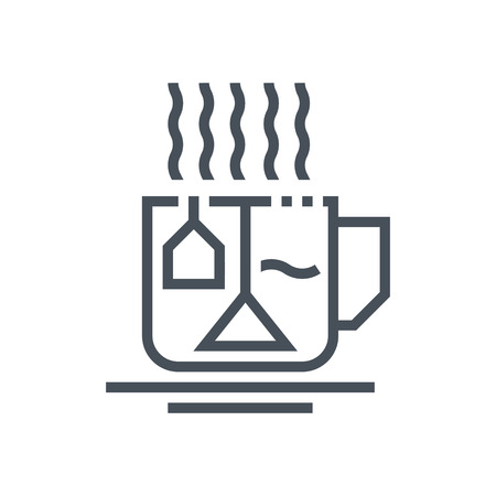 tea tree: Hot drinks, tea icon suitable for info graphics, websites and print media. Vector icon. Illustration