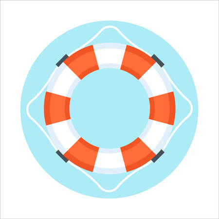 digital printing: Security Service, Life Buoy flat style, colorful, vector icon for info graphics, websites, mobile and print media.