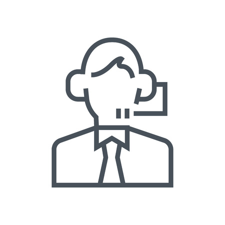 Consulting, customer service icon suitable for info graphics, websites and print media and  interfaces. Line vector icon. 向量圖像