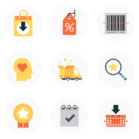fashion shopping: Shopping theme, flat style, colorful, vector icon set for info graphics, websites, mobile and print media.