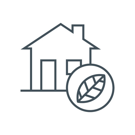 Clean energy house icon suitable for info graphics, websites and print media and  interfaces. Line vector icon.