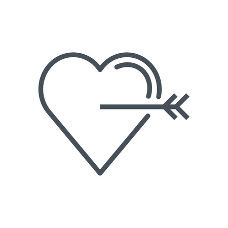 Love target icon suitable for info graphics, websites and print media. Vector, flat icon, clip art.