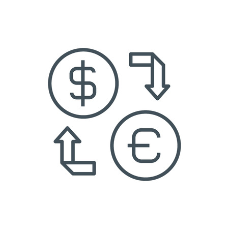 currency converter: Currency exchange icon suitable for info graphics, websites and print media. Vector icon.