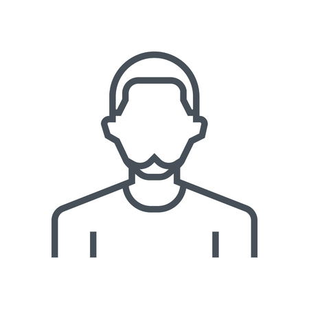 bald girl: Employee, office person avatar icon suitable for info graphics, websites and print media and  interfaces. Line vector icon. Illustration