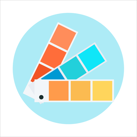 swatch book: Color swatch theme, flat style, colorful, vector icon for info graphics, websites, mobile and print media.