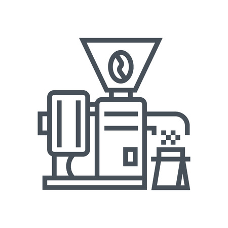 Coffee grinder icon suitable for info graphics, websites and print media and  interfaces. Line vector icon. Çizim