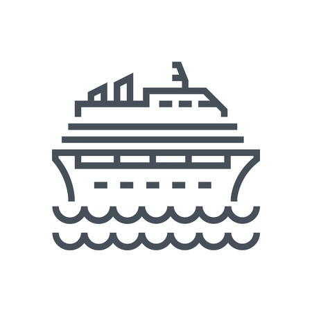 Cruise icon suitable for info graphics, websites and print media and  interfaces. Line vector icon. Illustration