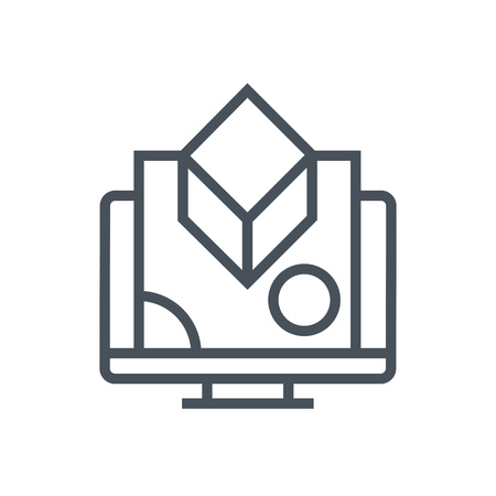 Digital graphics icon suitable for info graphics; websites and print media and; interfaces. Line vector icon. Illustration