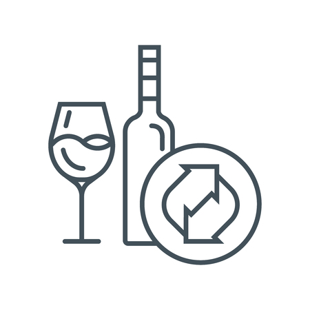 recycling: Recycling glass icon suitable for info graphics, websites and print media and  interfaces. Line vector icon.