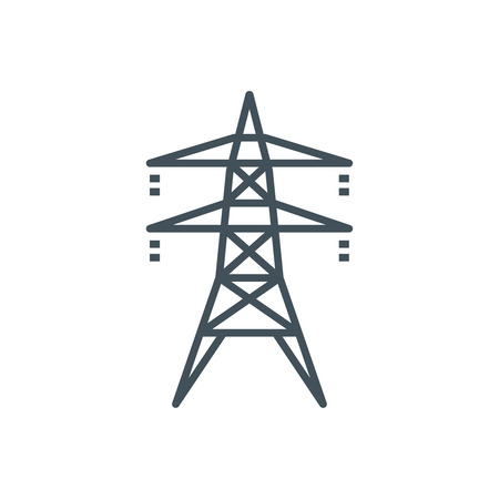 electric grid: Electricity icon suitable for info graphics, websites and print media and  interfaces. Line vector icon. Illustration