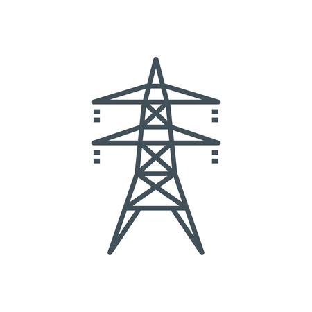 Strom Symbol für Info-Grafiken, Webseiten und Printmedien und Schnittstellen. Line-Vektor-Symbol. Vektorgrafik