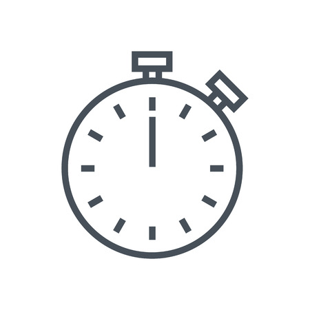 Timer icon suitable for info graphics, websites and print media and  interfaces. Line vector icon. Çizim