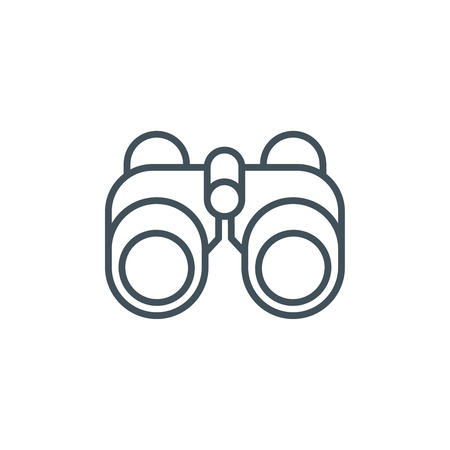 Binoculars icon suitable for info graphics, websites and print media and  interfaces. Line vector icon.
