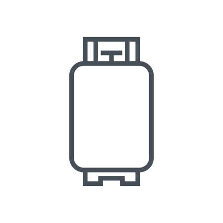 gas stove: Gas tank icon suitable for info graphics, websites and print media and  interfaces. Line vector icon. Illustration