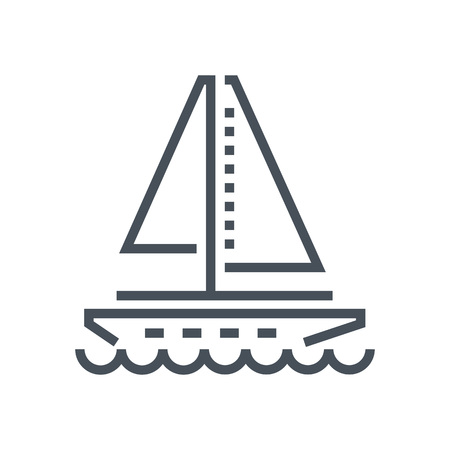 Sail boat icon suitable for info graphics, websites and print media and  interfaces. Line vector icon. Illusztráció