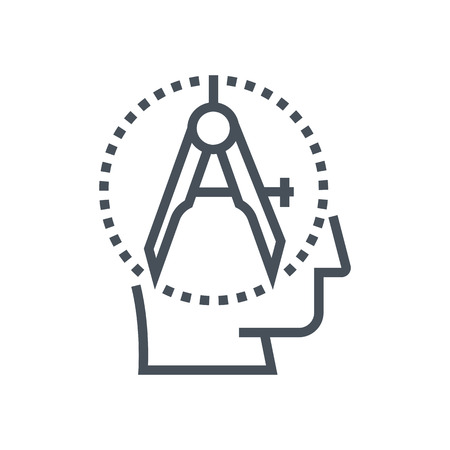precision: Precision icon suitable for info graphics, websites and print media and  interfaces. Line vector icon. Human face, head, line vector icon.