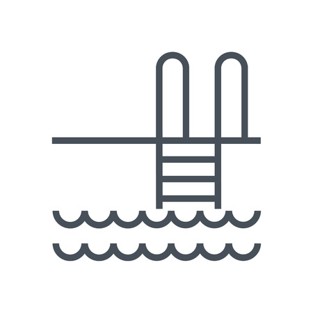 Water pool icon suitable for info graphics, websites and print media and  interfaces. Line vector icon. Illustration
