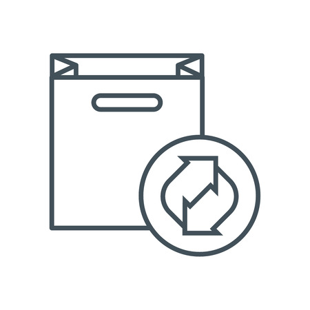 biodegradable: Biodegradable icon suitable for info graphics, websites and print media and  interfaces. Line vector icon.