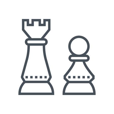 pensamiento estrategico: icono de pensamiento estratégico adecuado para la información de gráficos, páginas web y medios impresos e interfaces. Línea de iconos de vectores. rostro humano, cabeza, línea de iconos de vectores.