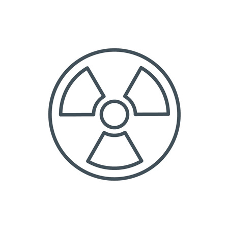 Nuclear energy icon suitable for info graphics, websites and print media and  interfaces. Line vector icon. Illustration