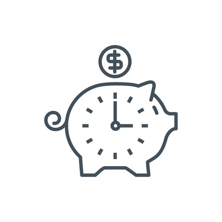 Time is money icon suitable for info graphics, websites and print media. Vector icon.