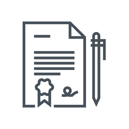 Legal Documents icon suitable for info graphics, websites and print media and  interfaces. Line vector icon.