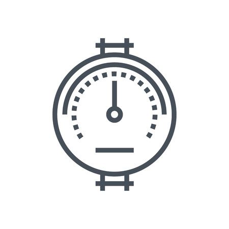 atmospheric: Pressure meter icon suitable for info graphics, websites and print media and  interfaces. Line vector icon. Illustration