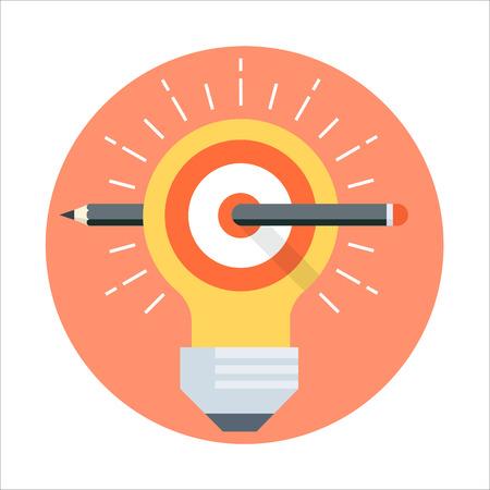 Définir le thème de but, le style plat, coloré, vecteur icône informations graphiques, les sites Web, les médias mobiles et l'impression. Vecteurs