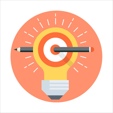 Define goal theme, flat style, colorful, vector icon for info graphics, websites, mobile and print media.