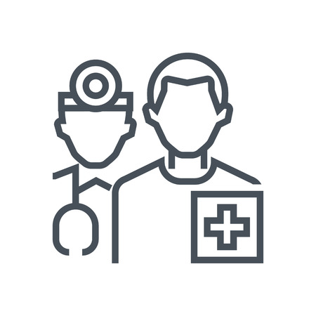 general insurance: Health insurance icon suitable for info graphics, websites and print media and  interfaces. Line vector icon.