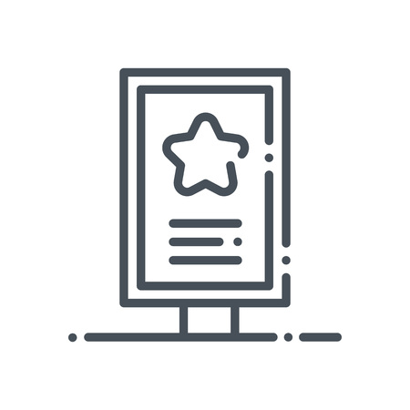 Billboard icon suitable for info graphics, websites and print media and  interfaces. Hand drawn style, pixel perfect line vector icon.