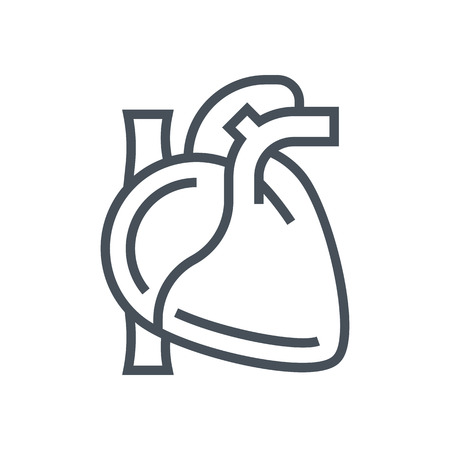 medical heart: Hearth icon suitable for info graphics, websites and print media and  interfaces. Line vector icon. Illustration
