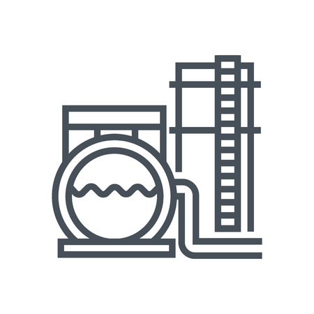 Storage tank icon suitable for info graphics, websites and print media and  interfaces. Line vector icon. Ilustração