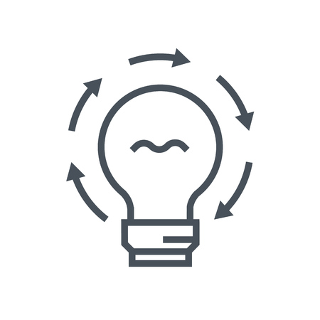 idea generation: Idea generation icon suitable for info graphics, websites and print media and  interfaces. Line vector icon.
