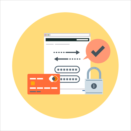 Security, account theme, flat style, colorful, vector icon for info graphics, websites, mobile and print media. Illustration