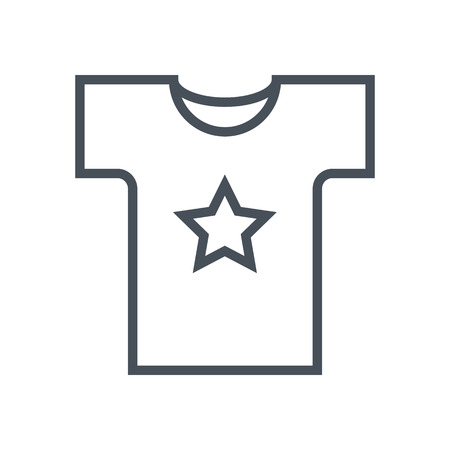wet shirt: Shirt, custom printing icon suitable for info graphics, websites and print media. Colorful vector, flat icon, clip art. Illustration