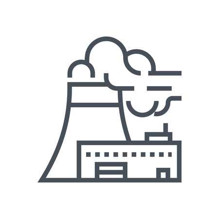 Power plant icon suitable for info graphics, websites and print media and  interfaces. Line vector icon. Ilustração