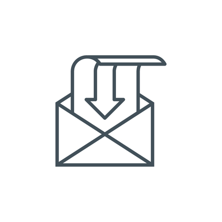 inbox: Inbox, receive mail icon suitable for info graphics, websites and print media and  interfaces. Line vector icon.