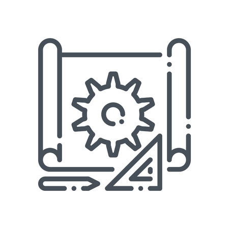 prototyping: Prototyping icon suitable for info graphics, websites and print media and  interfaces. Hand drawn style, pixel perfect line vector icon.