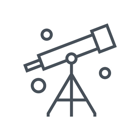 observation: Astronomy icon suitable for info graphics, websites and print media and  interfaces. Line vector icon. Illustration