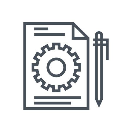 Icona di gestione dei contenuti adatti per informazioni grafiche, siti web e supporti di stampa e interfacce. Pixel vettore icona linea perfetta. Archivio Fotografico - 55944001