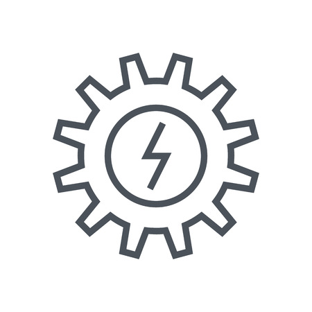 kinetic energy: Energy icon suitable for info graphics, websites and print media and  interfaces. Line vector icon.