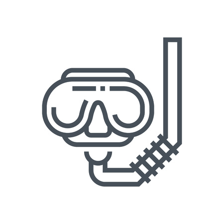 safety googles: Diving google icon suitable for info graphics, websites and print media and  interfaces. Line vector icon.
