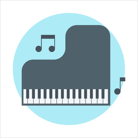 music education: Music, education theme, flat style, colorful, vector icon for info graphics, websites, mobile and print media.