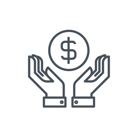 Wealth, salary icon suitable for info graphics, websites and print media. Colorful vector, flat icon, clip art.