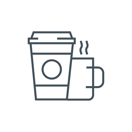 print media: Coffee icon suitable for info graphics, websites and print media. Vector icon. Illustration