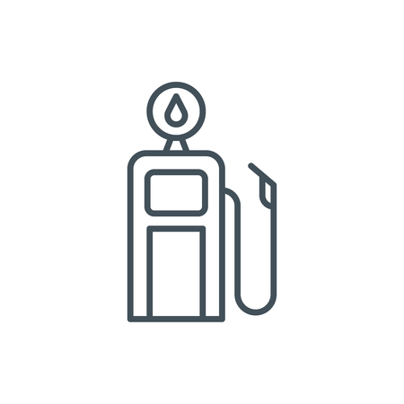 density: Gasoline station icon suitable for info graphics, websites and print media and  interfaces. Line vector icon.