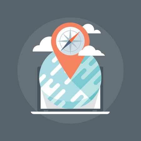 geo: Geo Location Flat style, colorful, vector icon for info graphics, websites, mobile and print media.